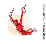 crossfit functional silhouette... | Shutterstock .eps vector #492840910