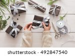 winter holidays celebrating.... | Shutterstock . vector #492847540