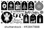 christmas holiday icons  tags.... | Shutterstock .eps vector #492847888