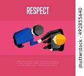 respect banner  vector... | Shutterstock .eps vector #492855640