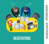 business team and teamwork... | Shutterstock .eps vector #492855694