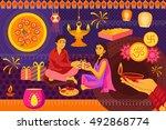vector illustration of indian... | Shutterstock .eps vector #492868774