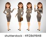 elegant people businesswoman   Shutterstock .eps vector #492869848
