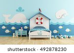 Kids Room In Marine Style With...