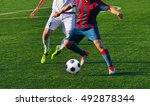 playing football soccer game... | Shutterstock . vector #492878344