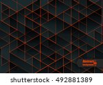 abstract background with... | Shutterstock .eps vector #492881389