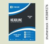 business brochure flyer design...   Shutterstock .eps vector #492889276