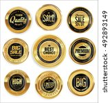 golden retro vintage badges... | Shutterstock .eps vector #492893149