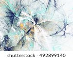 abstract beautiful blue and... | Shutterstock . vector #492899140