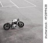 Silver Rebuilt Motorcycle...