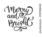 hand drawn vector lettering... | Shutterstock .eps vector #492908440