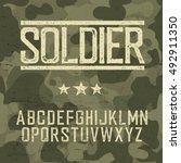 soldier alphabet. military... | Shutterstock .eps vector #492911350