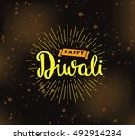 happy diwali background.... | Shutterstock .eps vector #492914284