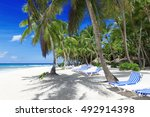 beach on the tropical island.... | Shutterstock . vector #492914398