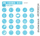 icons sport color thin white in ... | Shutterstock .eps vector #492930214