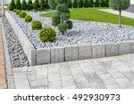 modern garden design | Shutterstock . vector #492930973