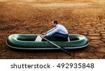 business man will rows home for ... | Shutterstock . vector #492935848
