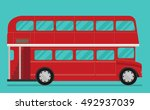 a vector illustration of a red... | Shutterstock .eps vector #492937039