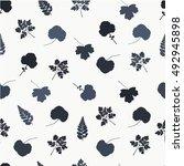 leaves pattern. monochrome...