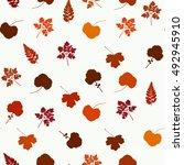 leaves pattern. autumn seamless ...
