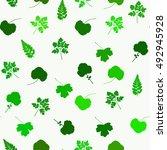 leaves pattern. green seamless...