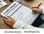 credit check financial... | Shutterstock . vector #492946576