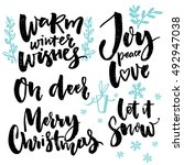 merry christmas type and... | Shutterstock .eps vector #492947038