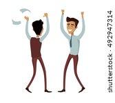 business team work success... | Shutterstock .eps vector #492947314