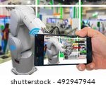 industry 4.0 and augmented...   Shutterstock . vector #492947944