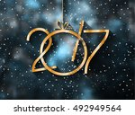 2017 happy new year background... | Shutterstock . vector #492949564