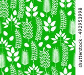 plants seamless pattern. vector ... | Shutterstock .eps vector #492953998