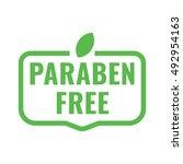 paraben free badge  logo  icon. ... | Shutterstock .eps vector #492954163