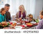 family dinner | Shutterstock . vector #492956983