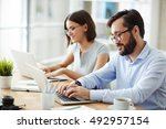 office workers | Shutterstock . vector #492957154