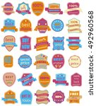 set of thirty vector badges... | Shutterstock .eps vector #492960568