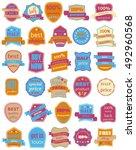 set of thirty vector badges... | Shutterstock .eps vector #492960568