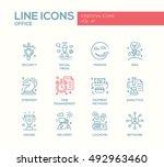 set of modern business  finance ... | Shutterstock . vector #492963460