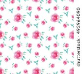 floral seamless pattern with... | Shutterstock . vector #492964090