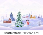 vector cartoon illustration of... | Shutterstock .eps vector #492964474