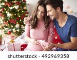 presents for christmas from... | Shutterstock . vector #492969358
