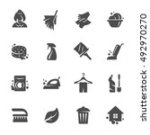 cleaning vector icons   Shutterstock .eps vector #492970270