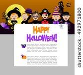 vector illustration of children ... | Shutterstock .eps vector #492971800