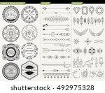 logo geometric line design... | Shutterstock .eps vector #492975328
