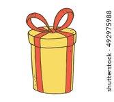 gift box. vector illustration. | Shutterstock .eps vector #492975988