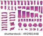 banner purple vector icon set... | Shutterstock .eps vector #492981448
