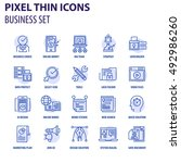 thin line flat icons pack for... | Shutterstock .eps vector #492986260