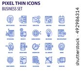 thin line flat icons pack for... | Shutterstock .eps vector #492986314