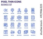 thin line flat icons pack for... | Shutterstock .eps vector #492986320