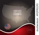 digital vector usa election...   Shutterstock .eps vector #492990193