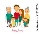vector illustration. family... | Shutterstock .eps vector #492997786